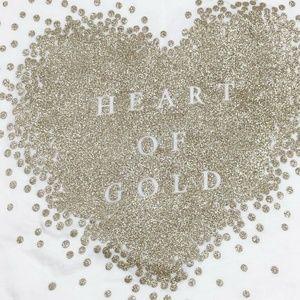 Carter's Shirts & Tops - Carter's Girls Shimmery Heart Of Gold Shirt 6X
